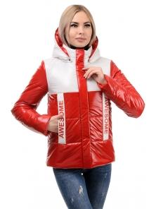 Демисезонная куртка «Хелен», 42-48, арт.288 красный