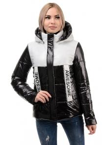 Демисезонная куртка «Хелен», 42-48, арт.288 черно-белый