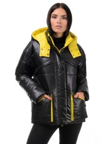 Куртка демисезонная «Бланш», 42-48, арт.297 черный-желтый