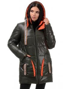 Куртка  «Кайла», 42-48, арт.301 хаки-оранж
