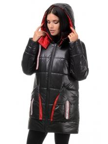 Куртка  «Кайла», 42-48, арт.301 черный-красный