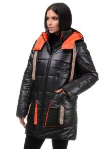 Куртка  «Кайла», 42-48, арт.301 черный-оранж