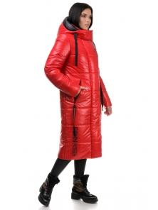 Пальто «Дженни», 42-50, арт.302 красный-черный