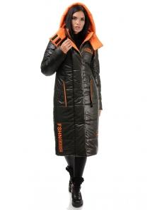 Пальто «Дженни», 42-50, арт.302 хаки-оранж