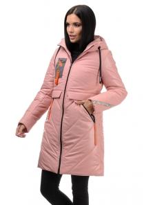 Пальто «Наса», 42-50, арт.304 розовый