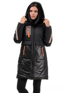 Пальто «Наса», 42-50, арт.304 черный