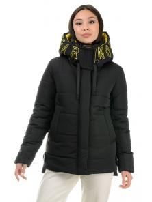 Куртка «Дарси», 42-48, арт.317 черный-желтый