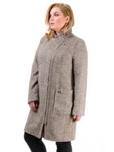 Женское демисезонное пальто «Дана», р-ры 46-54, №350 беж