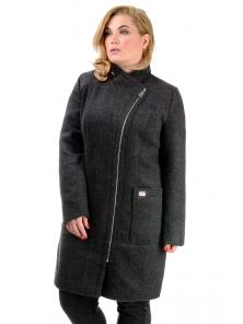 Женское демисезонное пальто «Дана», р-ры 46-54, №350 графит