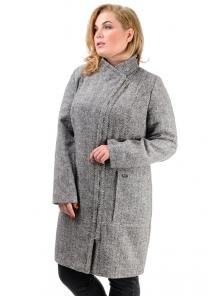 Женское демисезонное пальто «Дана», р-ры 46-54, №350 серый