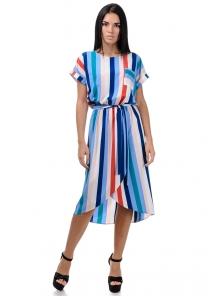 Платье «Афродита», р-ры S-L, арт.353 полоска голубой