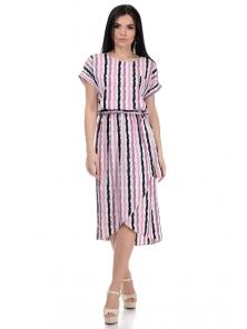 Платье «Афродита», р-ры S-L, арт.353 полоска фиолет
