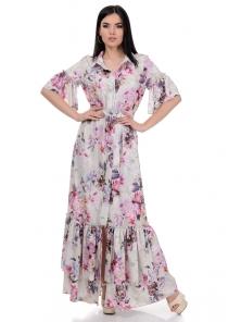 Платье «Жанна», р-ры S-L, арт.354 пион беж