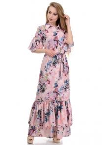 Платье «Жанна», р-ры S-L, арт.354 пион персик