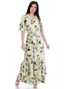 Платье «Жанна», р-ры S-L, арт.354 яблоня желтый