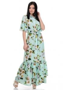 Платье «Жанна», р-ры S-L, арт.354 яблоня-мята