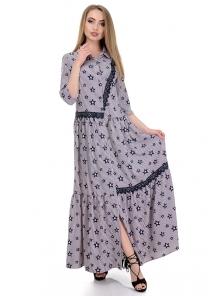 Платье «Кира», р-ры S-L, арт.356 звезды пудра