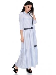 Платье «Кира», р-ры S-L, арт.356 рубчик голубой