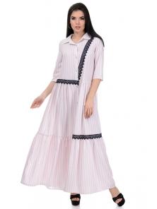 Платье «Кира», р-ры S-L, арт.356 рубчик пудра