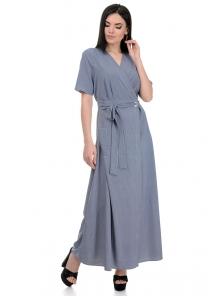 Платье «Лилия», р-ры S-L, арт.357 полоска синий