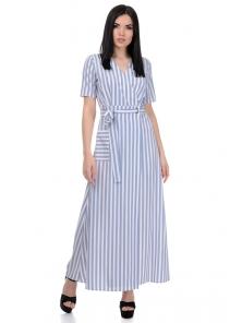 Платье «Лилия», р-ры S-L, арт.357 белый-серый