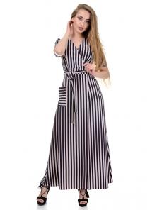 Платье «Лилия», р-ры S-L, арт.357 пудра-синий