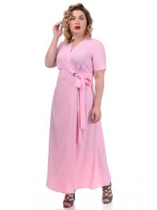 Платье «Лилия», р-ры ХL-ХХХL, арт.358 полоска розовый