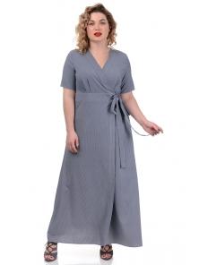 Платье «Лилия», р-ры ХL-ХХХL, арт.358 полоска синий