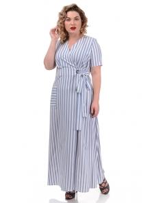 Платье «Лилия», р-ры ХL-ХХХL, арт.358 белый-серый