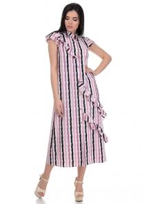 Платье «Римма», р-ры S-L, арт.359 полоска фиолет