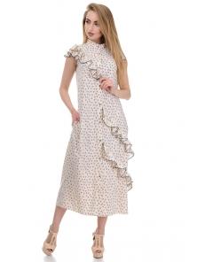 Платье «Римма», р-ры S-L, арт.359 сердечки беж