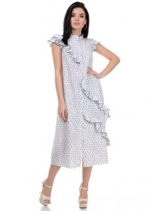 Платье «Римма», р-ры S-L, арт.359 сердечки белый