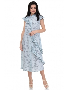 Платье «Римма», р-ры S-L, арт.359 сердечки голубой