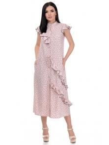 Платье «Римма», р-ры S-L, арт.359 сердечки пудра