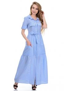 Платье «Луна», р-ры S-ХL, арт.362 голубой