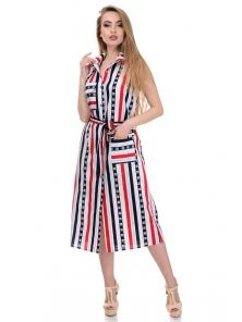 Платье «Полька», р-ры S-XL, арт.363 красный