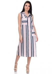 Платье «Полька», р-ры S-XL, арт.363 розовый