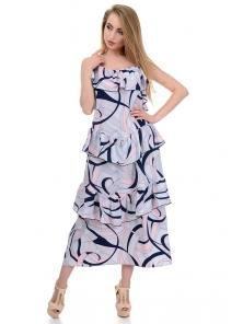 Платье «Алиса», р-ры S-L, арт.364 абстракция серый