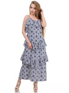 Платье «Алиса», р-ры S-L, арт.364 звезды белый