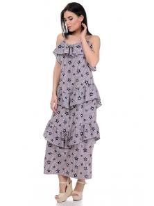 Платье «Алиса», р-ры S-L, арт.364 звезды пудра