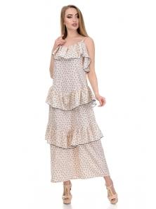 Платье «Алиса», р-ры S-L, арт.364 сердечки беж