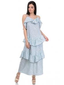Платье «Алиса», р-ры S-L, арт.364 сердечки голубой
