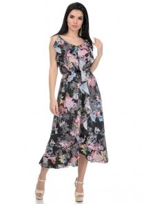 Платье «Рианна», р-ры S-L, арт.365 пион графит