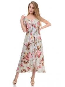 Платье «Рианна», р-ры S-L, арт.365 пион оливка