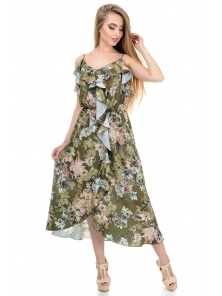 Платье «Рианна», р-ры S-L, арт.365 пион хаки