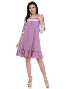 Платье «Эмма», р-ры S-L, арт.366 розовый