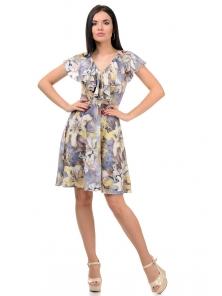 Платье «Милена», р-ры S-L, арт.371 лилия желтый
