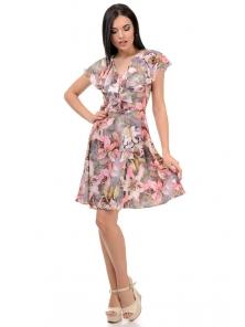 Платье «Милена», р-ры S-L, арт.371 лилия розовый