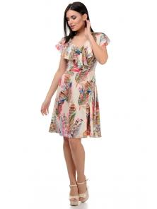 Платье «Милена», р-ры S-L, арт.371 перья розовый