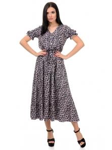 Платье «Даяна», р-ры S-ХL, арт.373 леопард розовый